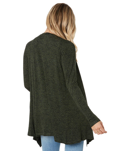 OLIVE BLACK TERRAIN WOMENS CLOTHING BETTY BASICS KNITS + CARDIGANS - BB537W20OLBKT