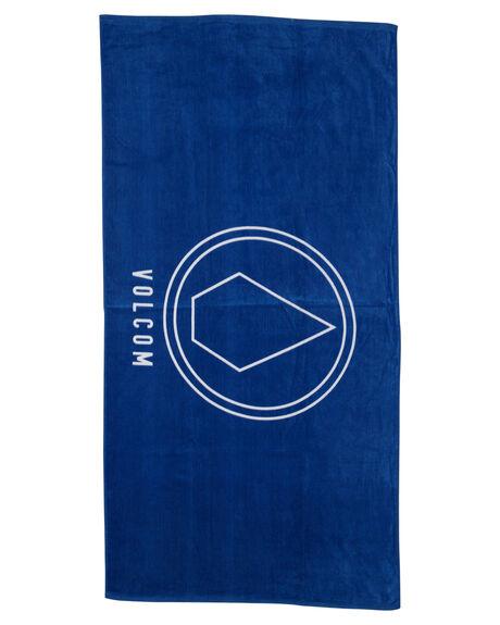 BLUE MENS ACCESSORIES VOLCOM TOWELS - D67417G3BLU