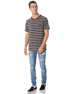SMASHED BLUE MENS CLOTHING INSIGHT JEANS - 1000067368SMBLU