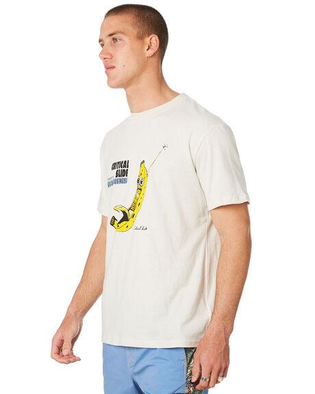 DIRTY WHITE MENS CLOTHING THE CRITICAL SLIDE SOCIETY TEES - TE18157DRTWH