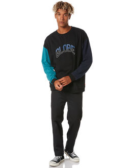 BLACK MENS CLOTHING GLOBE JUMPERS - GB01923001BLK