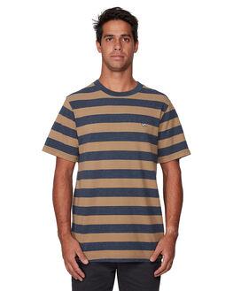 NAVY MARLE MENS CLOTHING RVCA TEES - RV-R107063-NYM