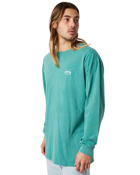 AQUA MENS CLOTHING STUSSY TEES - ST086000AQUA