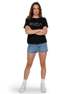 VINTAGE BLUE WOMENS CLOTHING RVCA SHORTS - RV-R491311-V11