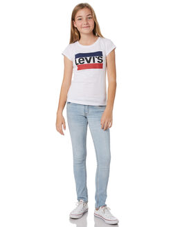BLEACHED OUT KIDS GIRLS LEVI'S PANTS - 37347-0052L1U