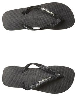 BLACK SILVER WOMENS FOOTWEAR HAVAIANAS THONGS - HMLS0090BKS