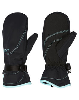 TRUE BLACK BOARDSPORTS SNOW ROXY GLOVES - ERJHN03071KVJ0