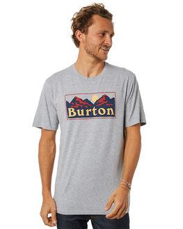 GRAY HEATHER MENS CLOTHING BURTON TEES - 196911020