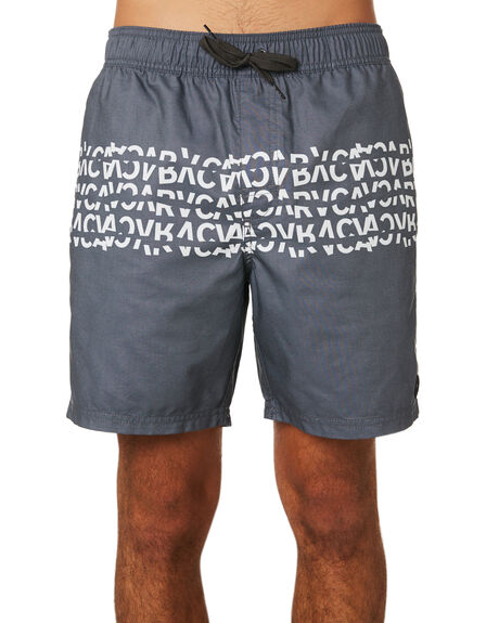 PIRATE BLACK MENS CLOTHING RVCA BOARDSHORTS - R393411PBLK