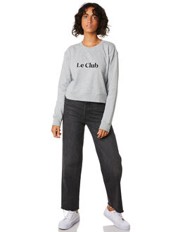 GREY MELANGE WOMENS CLOTHING COOLS CLUB JUMPERS - 402-CW2GRY