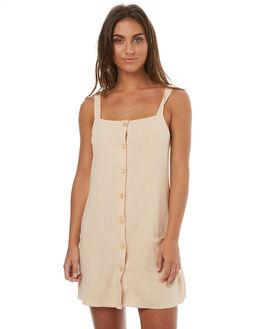 BEIGE WOMENS CLOTHING REVERSE DRESSES - R447BEI