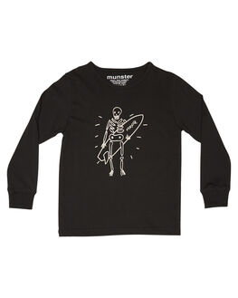 SOFT BLACK KIDS BOYS MUNSTER KIDS TOPS - MK182TL13SBLK