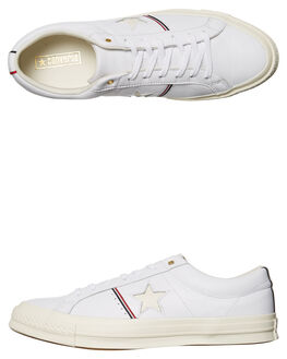 WHITE RED EGRET WOMENS FOOTWEAR CONVERSE SNEAKERS - SS159694WHIW