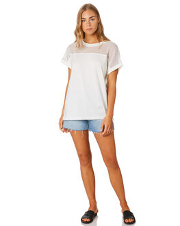WHITE WOMENS CLOTHING THE HIDDEN WAY TEES - H8201010WHI
