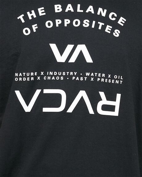 BLACK MENS CLOTHING RVCA TEES - RV-R305046-BLK