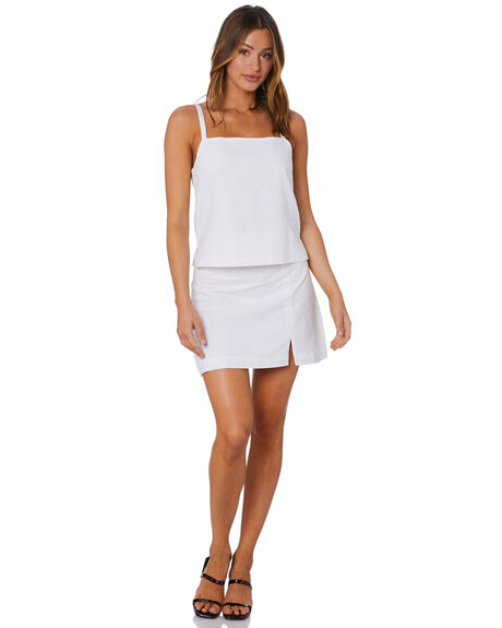 WHITE WOMENS CLOTHING NUDE LUCY FASHION TOPS - NU23958WHT
