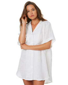 WHITE WOMENS CLOTHING ZULU AND ZEPHYR DRESSES - ZZ2769WHT