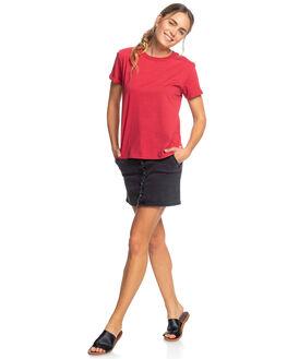DEEP CLARET WOMENS CLOTHING ROXY TEES - ERJZT04693-RQH0