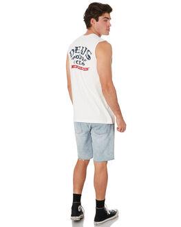 VINTAGE WHITE MENS CLOTHING DEUS EX MACHINA SINGLETS - DMP91138BVNWHT