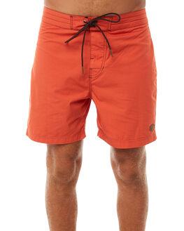 ORANGE RUST MENS CLOTHING DEUS EX MACHINA BOARDSHORTS - DMP82029ORA
