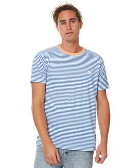 BLUE STRIPE MENS CLOTHING BARNEY COOLS TEES - 137-MC3BLUS