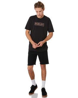 BLACK MENS CLOTHING HURLEY TEES - BV1904010