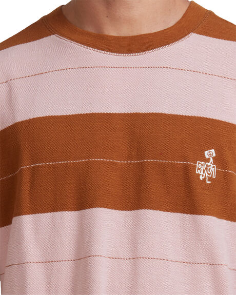 CAMEL MENS CLOTHING RVCA TEES - RV-R117050-CAM
