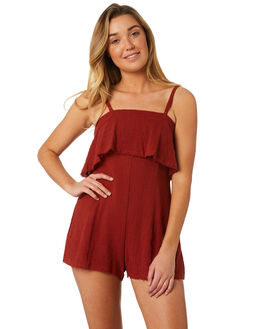 BURRED OUTLET WOMENS SOMEDAYS LOVIN PLAYSUITS + OVERALLS - IL18F1470BURR