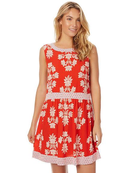 BENGAL ORANGE WOMENS CLOTHING TIGERLILY DRESSES - T375403BORG