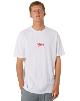 WHITE MENS CLOTHING STUSSY TEES - ST082000WHT