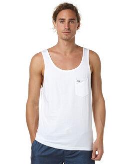 WHITE MENS CLOTHING RIP CURL SINGLETS - CTEVO11000