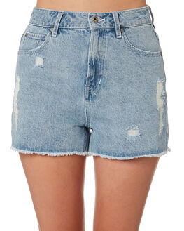 LIGHT BLUE WOMENS CLOTHING SILENT THEORY SHORTS - 6093118BLU