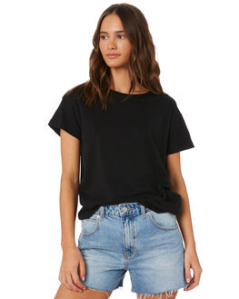 BLACK WOMENS CLOTHING SILENT THEORY TEES - 6085027BLK