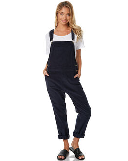 NAVY CHORD WOMENS CLOTHING RUE STIIC PLAYSUITS + OVERALLS - BC25NVY