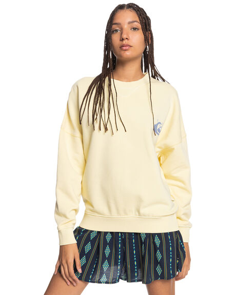 PASTEL YELLOW WOMENS CLOTHING QUIKSILVER JUMPERS - EQWFT03040-YDJ0