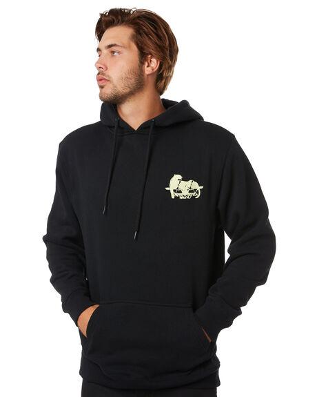 BLACK MENS CLOTHING SANTA CRUZ JUMPERS - SC-MFA0572BLK