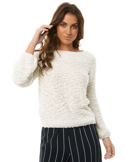 WHITE CAP WOMENS CLOTHING BILLABONG KNITS + CARDIGANS - 6585801WHT