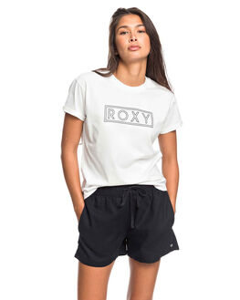 SNOW WHITE WOMENS CLOTHING ROXY TEES - ERJZT04808-WBK0