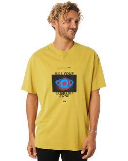 PIGMENT CURRY MENS CLOTHING GLOBE TEES - GB01930019PIGCU
