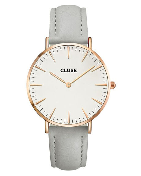 ROSE GOLD WHITE GREY MENS ACCESSORIES CLUSE WATCHES - LCL18015RG