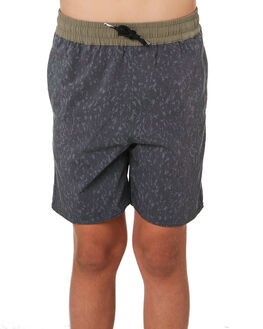 BLACK KIDS BOYS VOLCOM BOARDSHORTS - C2541902BLK
