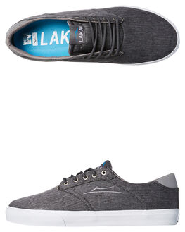 CHARCOAL TEXTILE MENS FOOTWEAR LAKAI SNEAKERS - MS1180247ACHAR