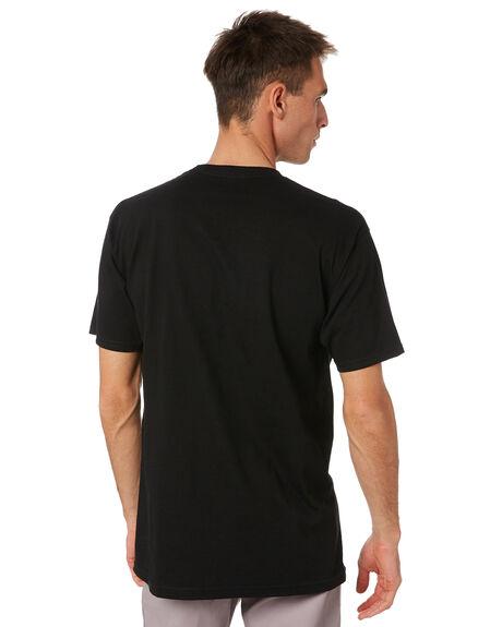 BLACK MENS CLOTHING SPITFIRE TEES - 51010001GKBLK