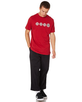 RED MENS CLOTHING INDEPENDENT TEES - IN-MTD8257RED