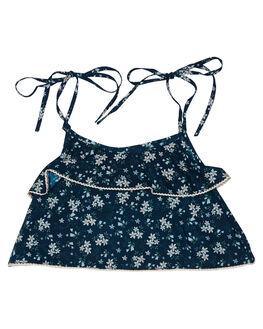 BLUE FLORAL OUTLET KIDS ISLAND STATE CO CLOTHING - FLRTP-BLUFL