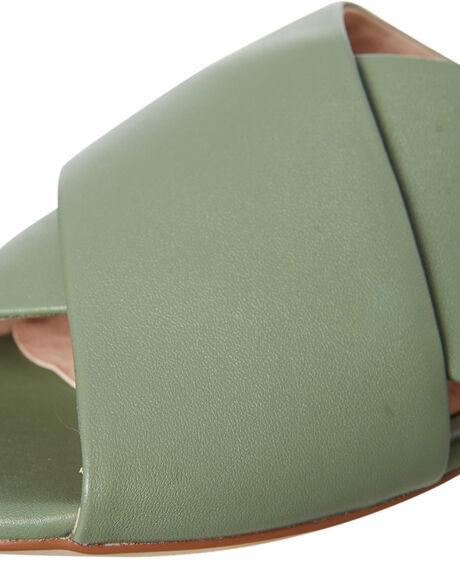 KHAKI LEATHER OUTLET WOMENS WALNUT FASHION SANDALS - ROSEKLTR