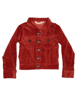 RUST RED KIDS GIRLS MUNSTER KIDS JUMPERS + JACKETS - MM182JK08RED