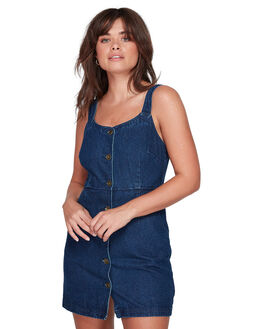 INDIGO WASH WOMENS CLOTHING ELEMENT DRESSES - EL-207862-8IW