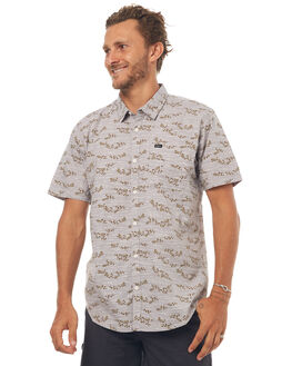 GREY MENS CLOTHING RVCA SHIRTS - R172184GRYM