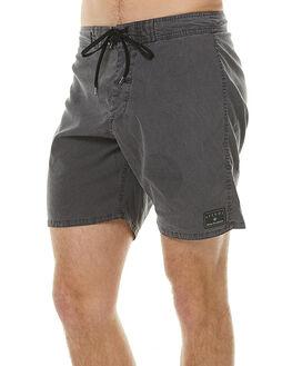 BLACK OIL MENS CLOTHING AFENDS BOARDSHORTS - 10-01-063BKOIL